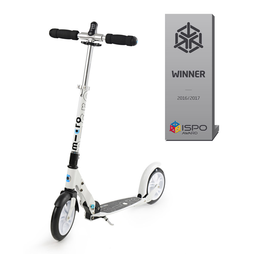 Micro Scooter white interlock Zahlenschloss Modell 2020